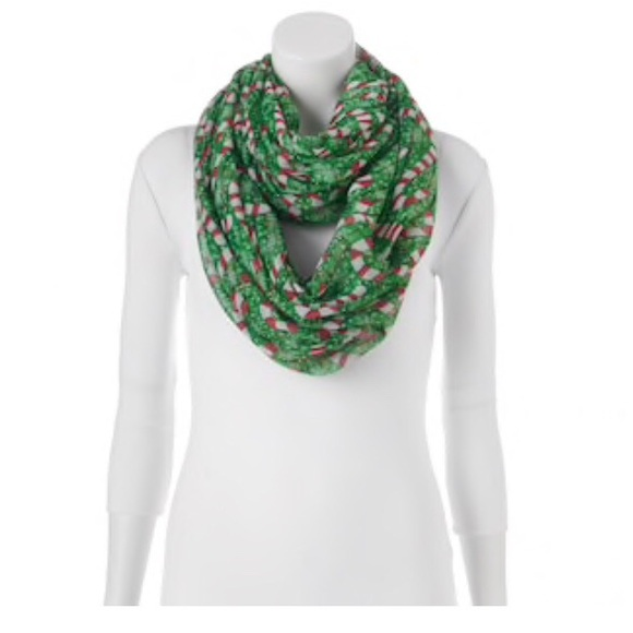 gift idea nwt christmas candy cane infinity scarf